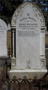 Sophia Shirley Whitehead Gravestone