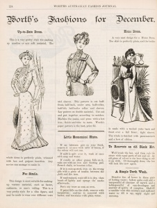 Worths Australian fashion styles 1900
