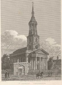 St Leonard's Shoreditch 18th century
