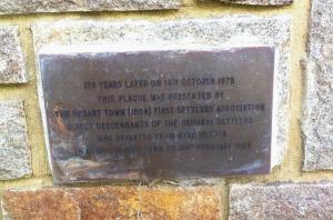 first settlement at port phillip memorial wall plaque