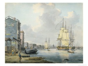Rotherhithe, the Thames c. 1790