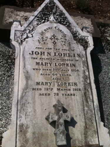 Grave of John and Mary Lorkin