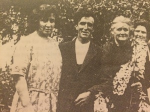 Emily, Walter Scott, Lily, Laura in the garden at Ferndale.