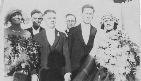 Ernest and Dorothy wedding day. At far left Molly Whitehead