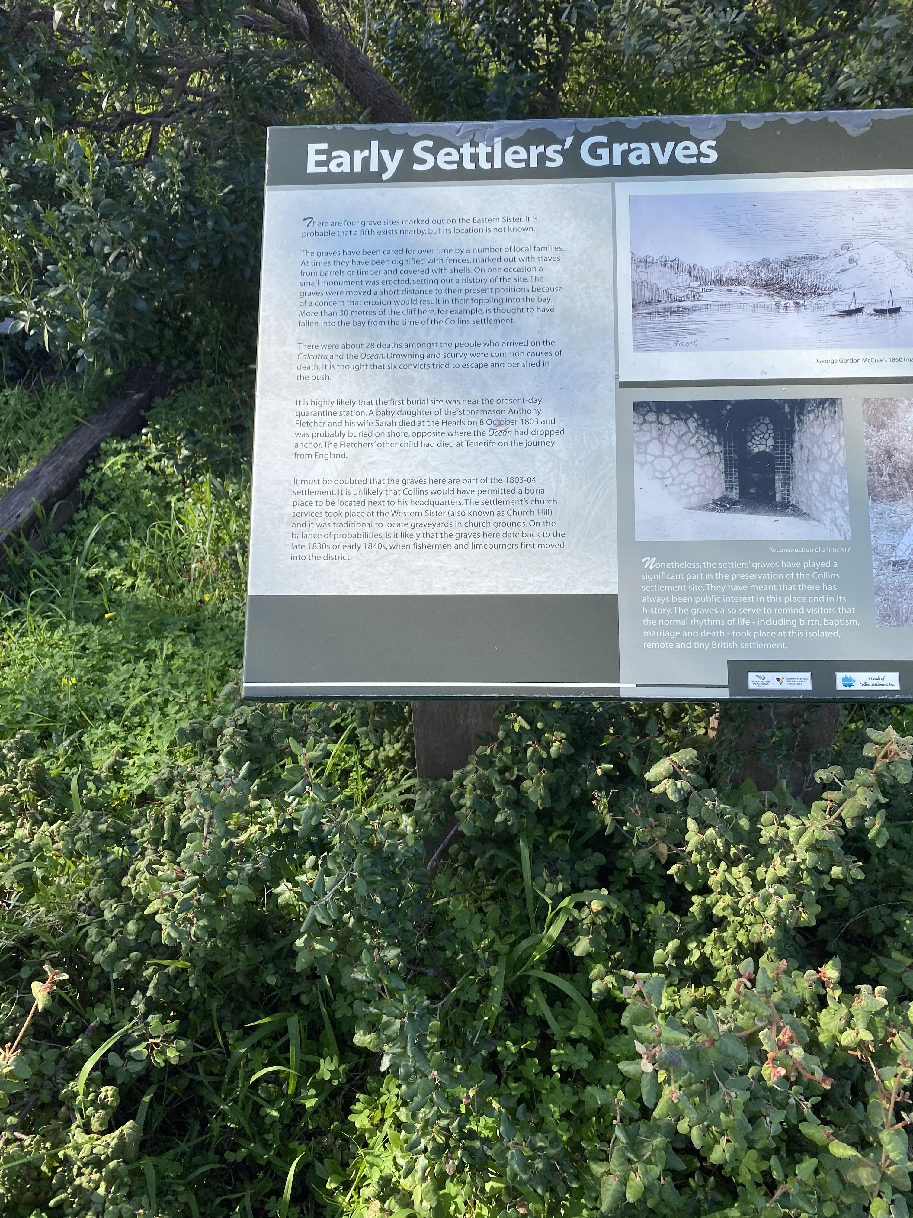 Early Settler Graves Sullivan's Cove