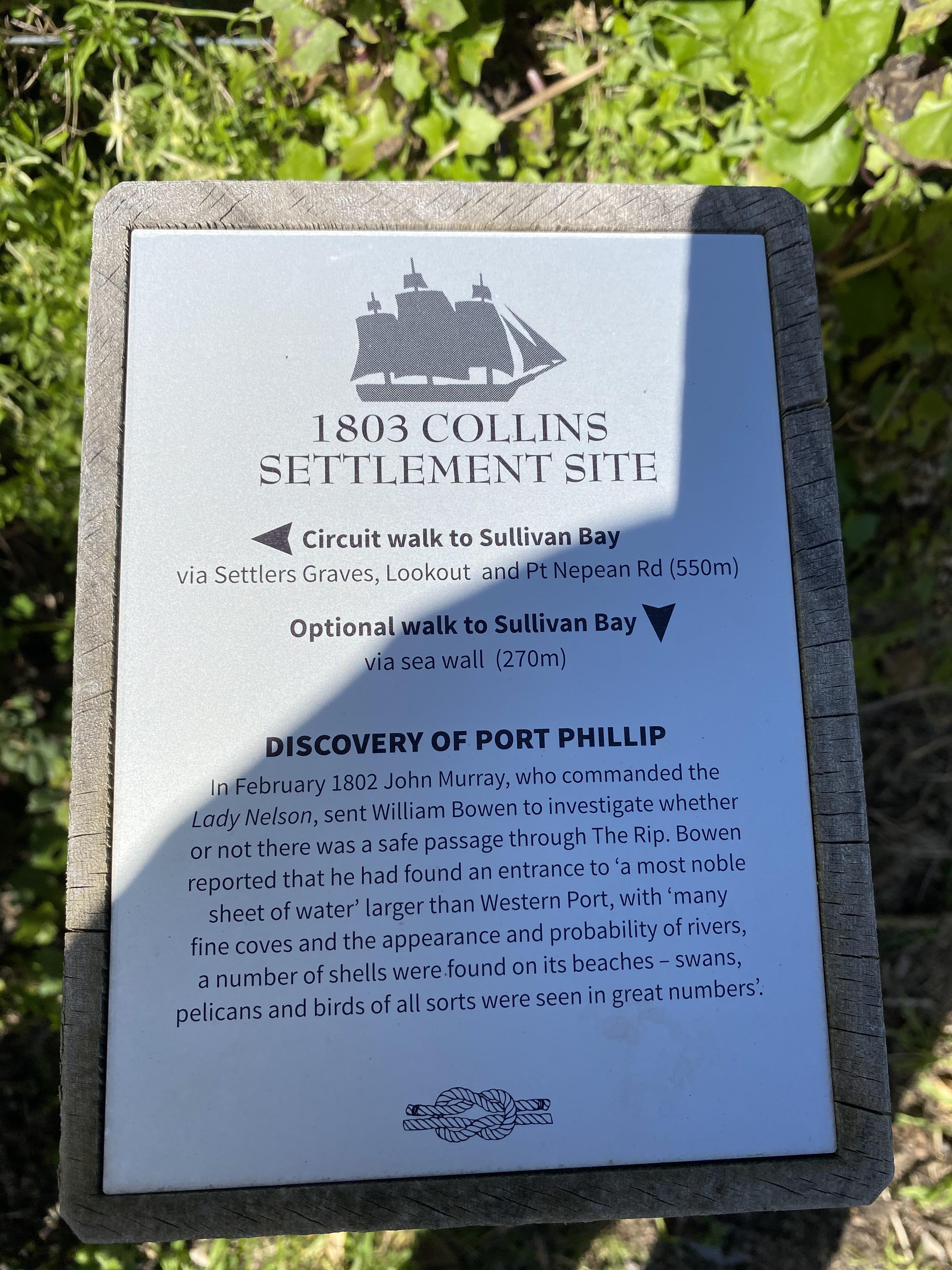 Plaque 1803 Collins Settlement Site