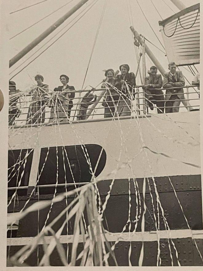 Sailing for England Neva and Priscilla