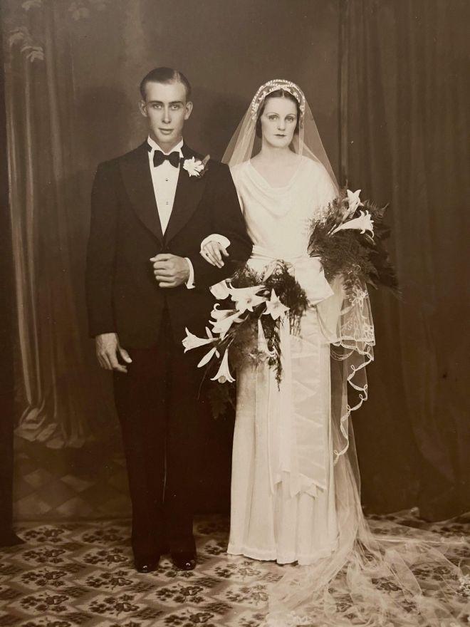 Neva and Roy Wedding Photograph